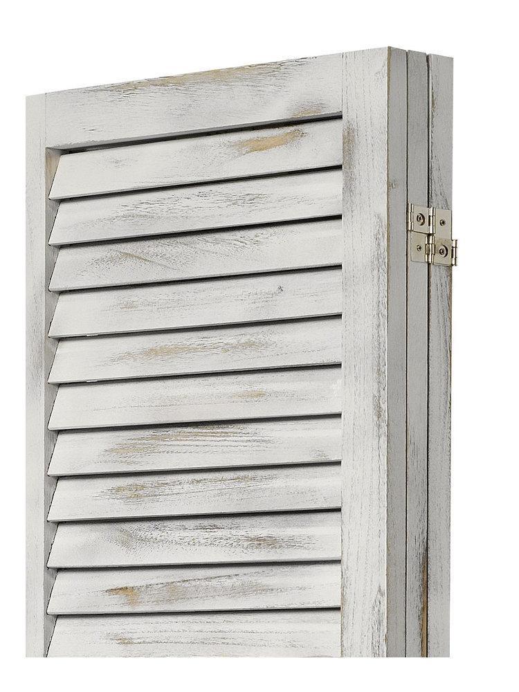 paravant massivholz used antik wei lamellen paravent raumtrenner raumteiler kaufen bei go perfect. Black Bedroom Furniture Sets. Home Design Ideas