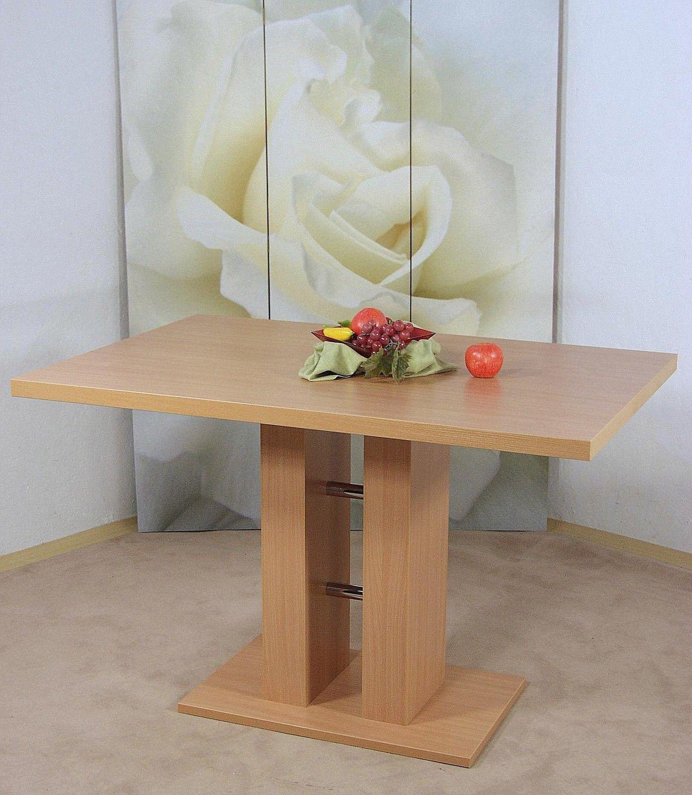 S ulentisch buche natur esstisch esszimmertisch tisch for Esszimmertisch buche