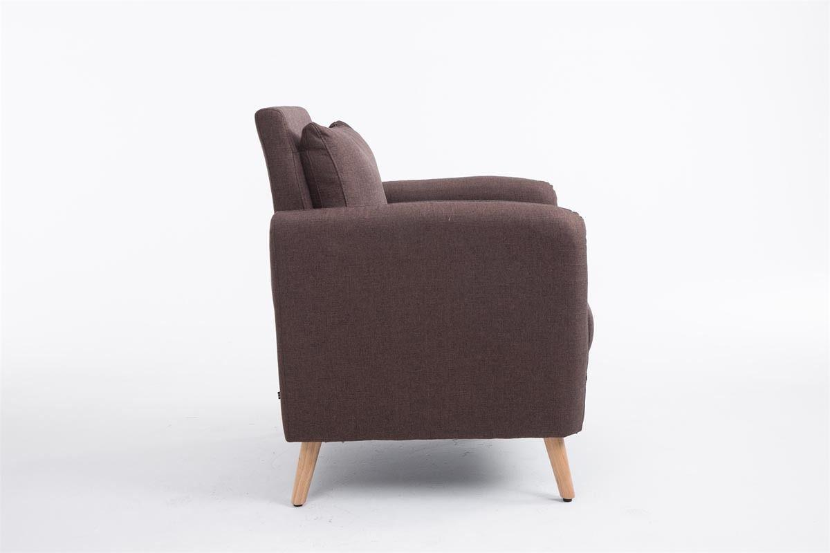 sessel braun stoff m belideen. Black Bedroom Furniture Sets. Home Design Ideas