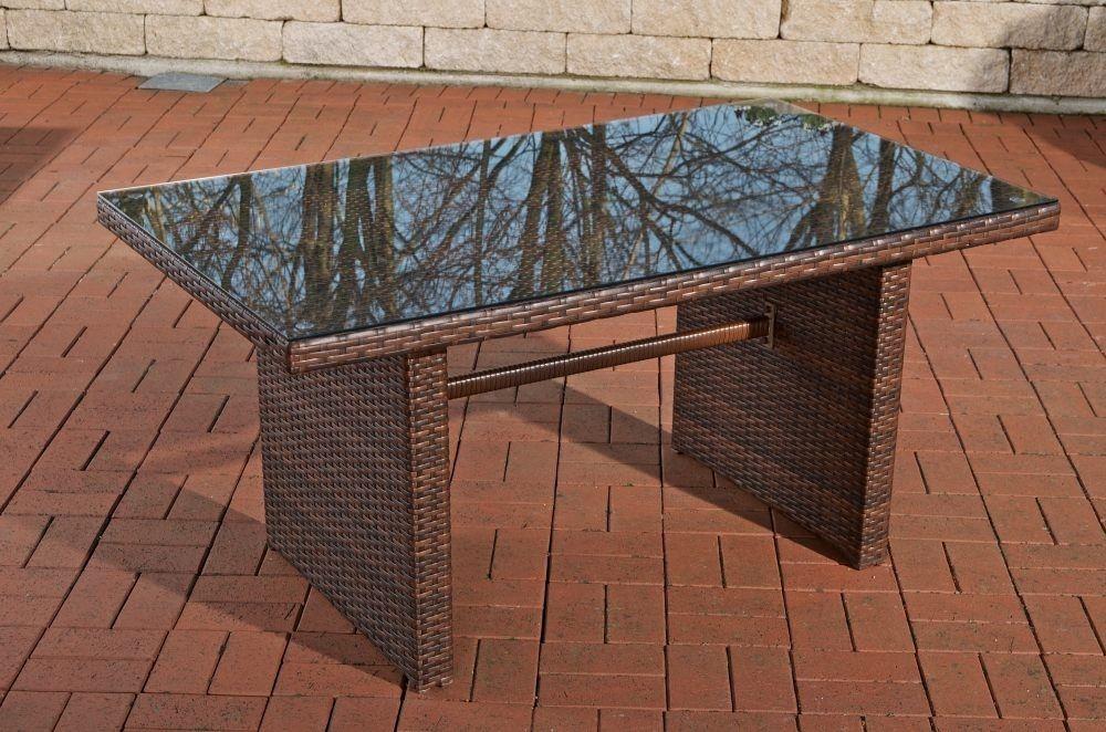 tisch braun gartentisch garten rattan terrassentisch. Black Bedroom Furniture Sets. Home Design Ideas