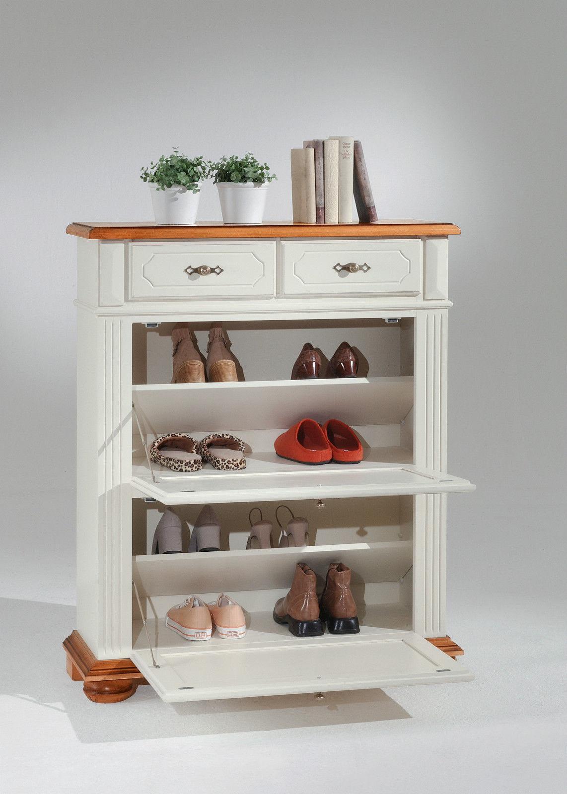 schuhschrank fichte massiv wei schrank kommode schuhregal schuhablage schuhe kaufen bei go. Black Bedroom Furniture Sets. Home Design Ideas
