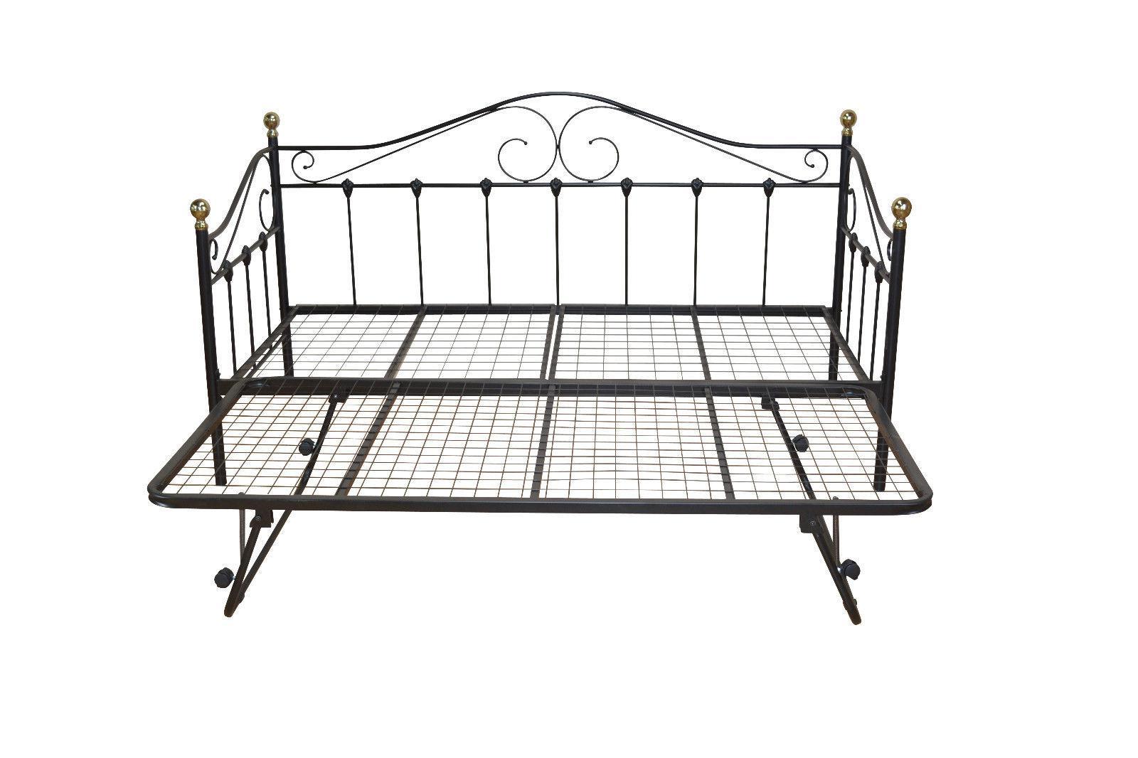 tagesbett schwarz inkl lattenrost einzelbett day bed g stebett romantisch bett kaufen bei go. Black Bedroom Furniture Sets. Home Design Ideas