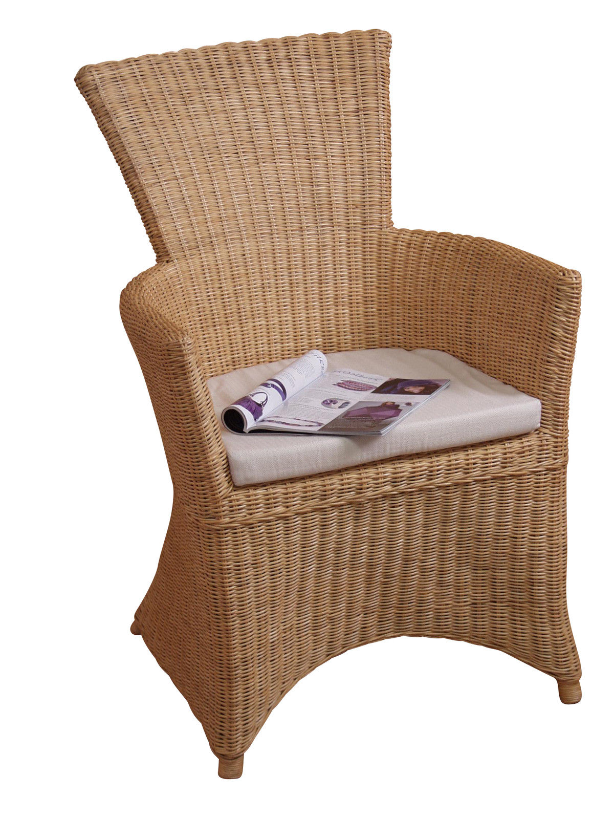 rattansessel beige inkl kissen rattanrohr sessel rattanstuhl rattan stuhl neu kaufen bei go. Black Bedroom Furniture Sets. Home Design Ideas