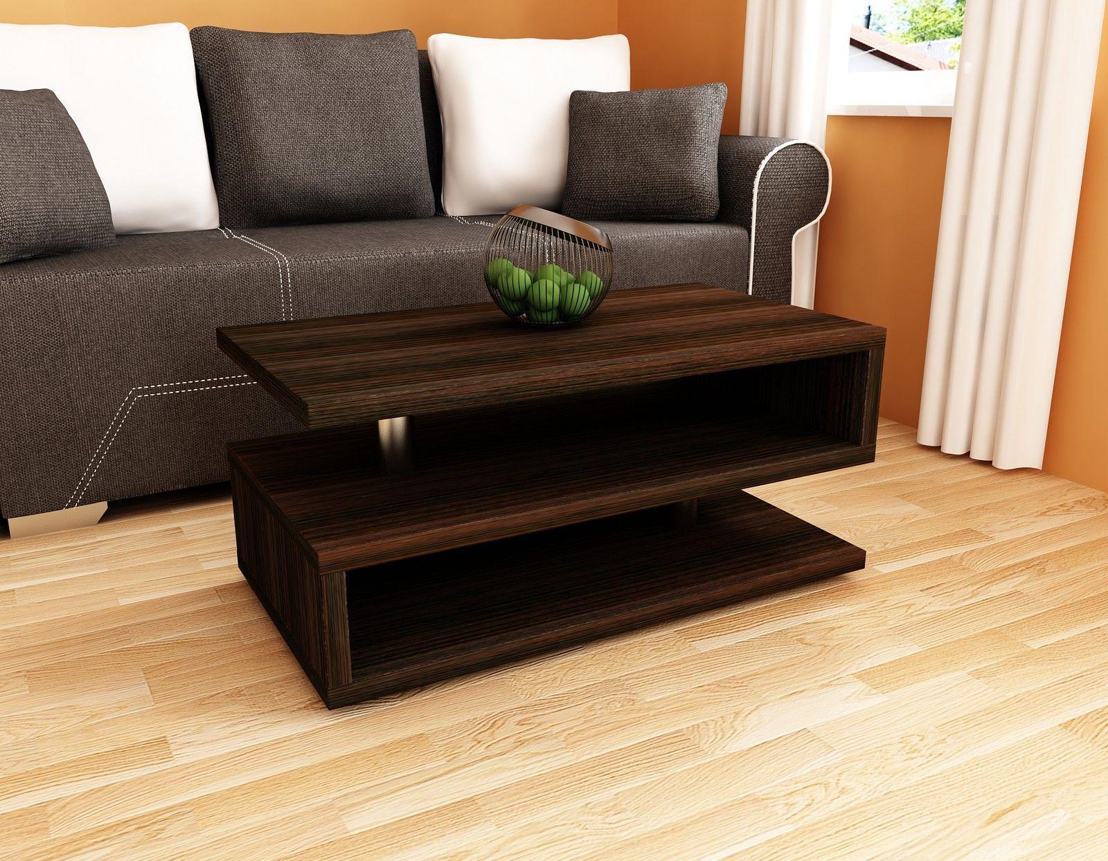 Couchtisch Wohnzimmer Edler Sofatisch Tisch Holz Glas Design