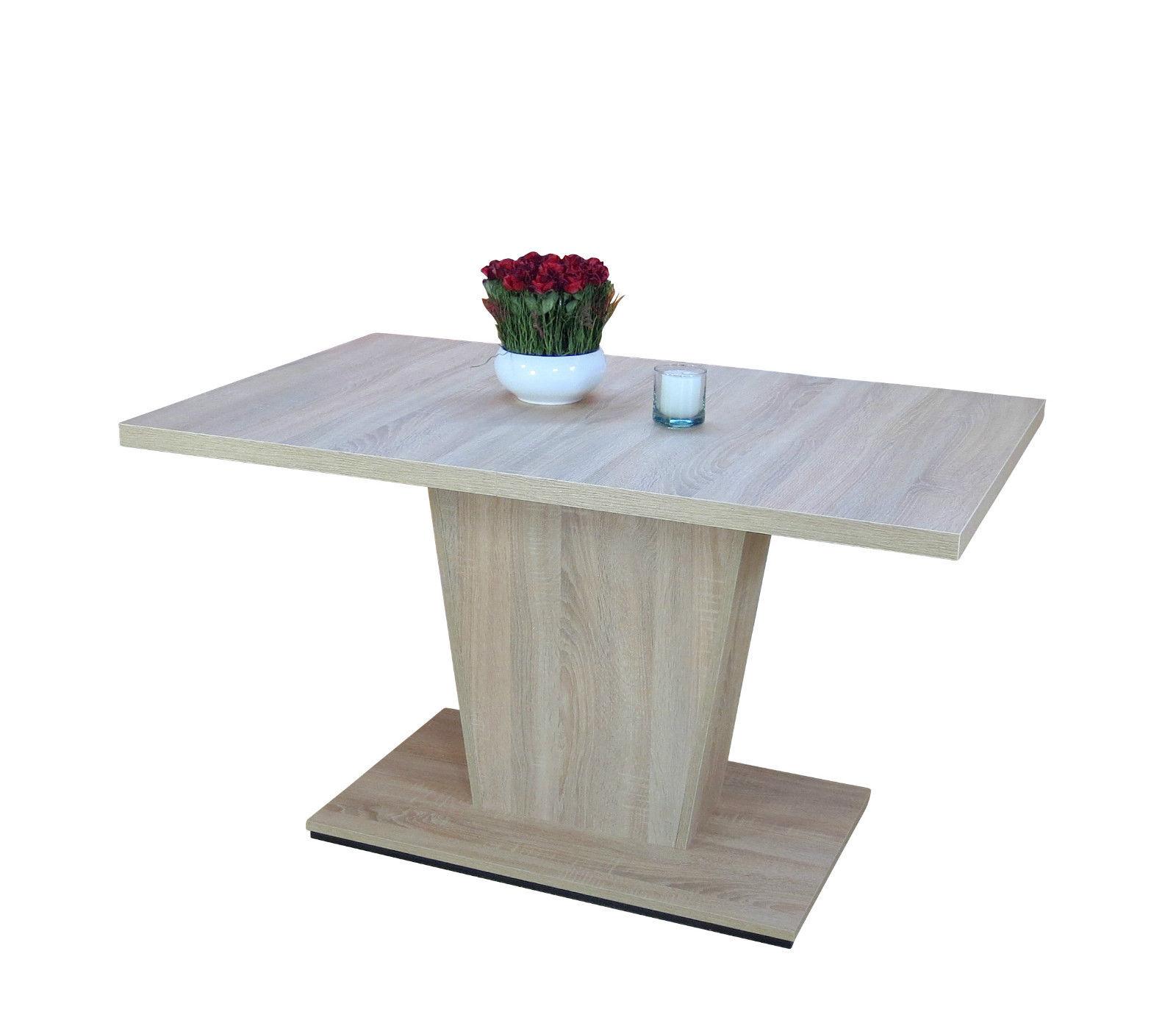 s ulentisch sonoma eiche auszugtisch esstisch. Black Bedroom Furniture Sets. Home Design Ideas
