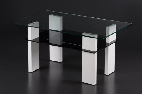 Couchtisch Sofatisch Ablage Design modern Glastisch Glas Wohnzimmer TV ...