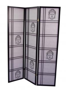 paravant buddha motiv massivholz paravent raumtrenner raumteiler trennwand neu kaufen bei go. Black Bedroom Furniture Sets. Home Design Ideas
