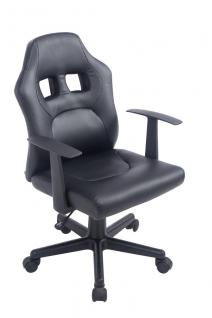 Kinder Bürostuhl schwarz Bürosessel robust stabil günstig Kinderstuhl preiswert