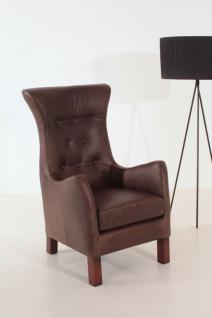 Hochlehnsessel braun Leder used look Sessel Einzelsessel Clubsessel Loungesessel