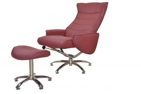 Relaxsessel inklusive Fußablage Hocker rot Sessel Zockersessel Ledersessel neu