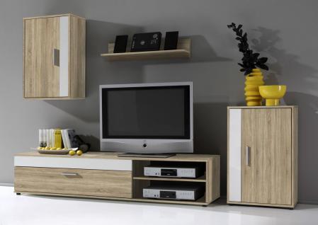 Wohnzimmer Anbauwand Weiß günstig kaufen bei Yatego
