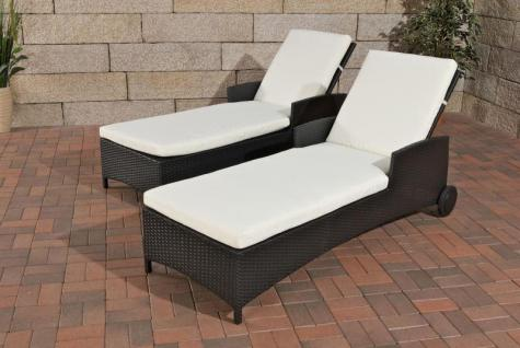 sonnenliege rollbar schwarz polyrattan liege gartenliege. Black Bedroom Furniture Sets. Home Design Ideas