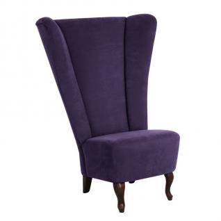 moderner Hochlehnsessel Sessel Polstersessel Flachgewebe Loungesessel Thron neu