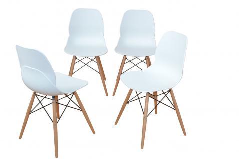 kunststoff stuhl wei online bestellen bei yatego. Black Bedroom Furniture Sets. Home Design Ideas