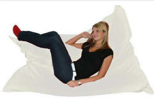 Riesensitzsack Sitzsack Sitzkissen XXL Kissen 140 180 cm Sitz Sack Sofa natur