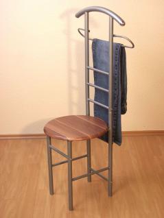 herrendiener mit sitz garderobe stummer diener stuhl nu baum nussbaum walnuss kaufen bei go. Black Bedroom Furniture Sets. Home Design Ideas