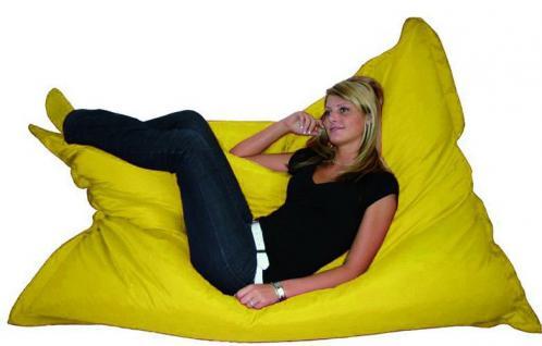 Riesensitzsack Sitzsack Sitzkissen XXL Kissen Riesenkissen Sessel Sofa gelb