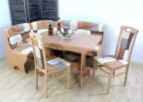 Truheneckbankgruppe massiv natur braun beige Eckbankgruppe Eckbank Tisch Stühle
