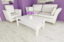 Couchtisch weiß 110cm Wohnzimmer edler Sofatisch Ablage modern design günstig