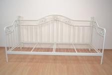 romantisches Tagesbett weiß 90 x 200 cm Metallbett Bett Jugendbett Einzelbett