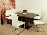 Eckbankgruppe nußbaum Eckbank Schwingstühle Säulentisch Stuhlset Dinninggruppe