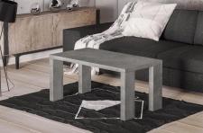 edler Couchtisch 110 cm Beton moderner Sofatisch design Wohnzimmertisch günstig