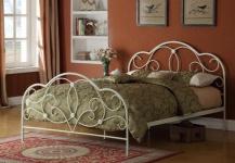 Bett 140x200 weiß Ehebett Gästebett Einzelbett Doppelbett Metallbett romantisch