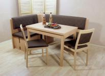 Eckbankgruppe 4 teilig schoko Tischgruppe Essgruppe modern design hochwertig neu