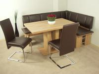 Eckbankgruppe Kernbuche Eckbank Schwingstühle Säulentisch Stuhlset Dinninggruppe