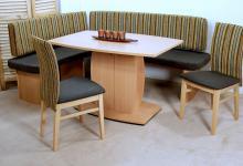 moderne Eckbankgruppe 4 teilig Buche terra Eckbank Tisch massiv Stühle design