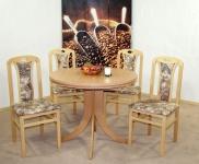 Tischgruppe massivholz natur beige gemustert Stuhlset 2er Set Stühle Esstisch