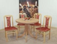 Tischgruppe massivholz natur terracotta Stuhlset 2er Set Stühle Esstisch Tisch