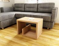 Beistelltisch Design Wohnzimmer kleiner Couchtisch modern Hochglanz weiß Eiche