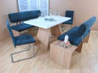 Dinninggruppe Sonoma aquamarin Sitzbank Bänke 2 x Stühle Essgruppe Tischgruppe