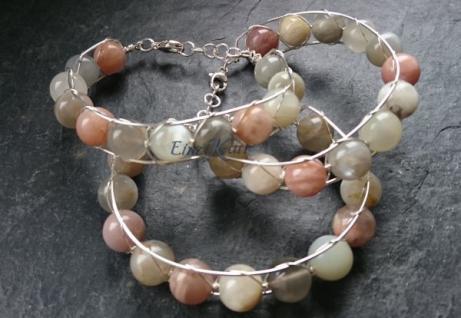 EinziK-Art Armband Mondstein 925 versilbert