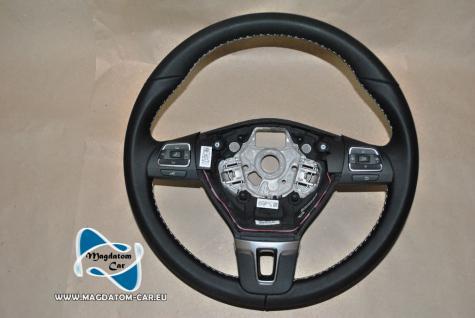 Neu Original Lenkrad Steering Wheel Schwarz Leder + Multifunktion Ohne AirBag fur Golf 6 Cabrio EOS Passat 3C 1Q0419091AP