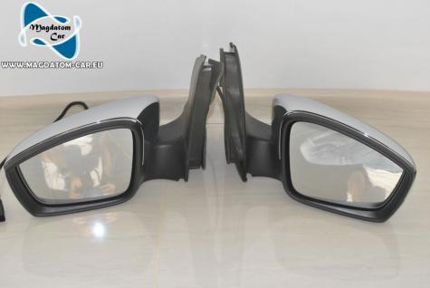 2x Neu Original Spiegel mit Glas Komplette Chrom Vw Up Skoda Citygo Seat Mii 1S1857501
