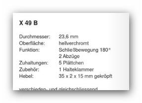 Kessler Schloss für Normbau-Briefkästen - Vorschau 3