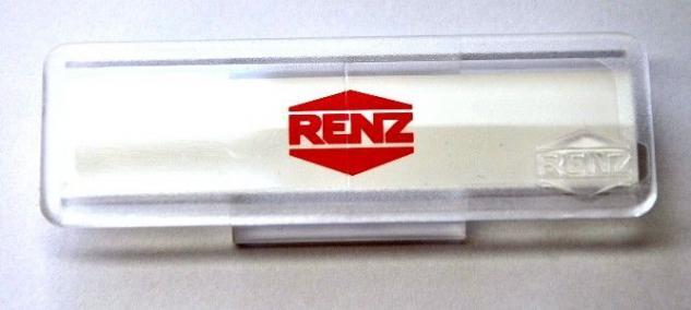 Renz Namenschild ohne Sperre, 65 x 22 mm, 97-9-82033 Kunststoff, glasklar 10 St