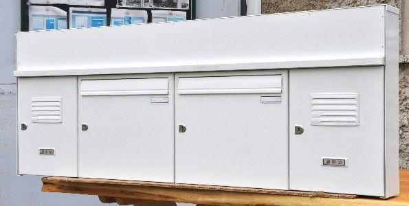Briefkastenanlage DAD 2 Kästen, Wandbriefkasten, Weiß, Metall - Vorschau 1