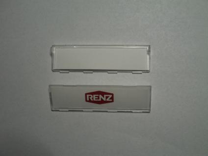 Namenschildabdeckung Renz97-9-82146 für Namenschild97-9-82016Kunststoff glasklar