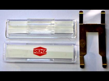 Renz Namenschild 64x19mm m.Feder f.Briefkastenklappe 97-9-00303 Kunststoff, klar