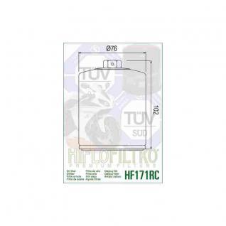 HF171BRC Buell, Harley Ölfilter Race schwarz OEM 63731-99 63731-99A 63798-99