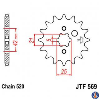 CST56914 Supersprox Yamaha 14 Zähne