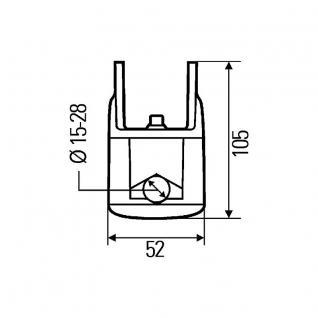 8HG990263111 HELLA Rohrhalterung drehbar Arbeistscheinwerfer
