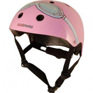 Kiddimoto Helm Goggle pink Größe S - 48-53 cm, geprüft nach EC EN1078