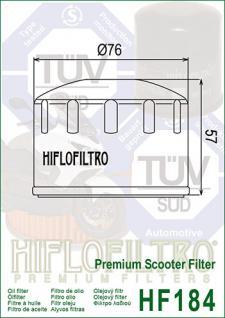 HF 184 Ölfilter Scooter Adiva, Piaggio, Pegeout, Gilera, Malaguti