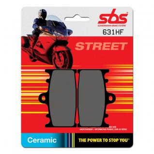 Bremsbelag SBS 631HF Street Ceramic Kawasaki GPZ900 KLZ1000 KR-1 VN1700 VN2000 Zephyr Suzuki GSF GSX SV RGV
