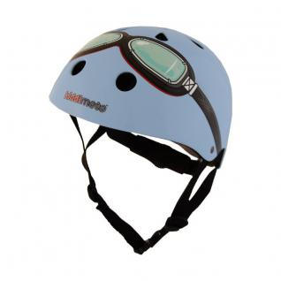 Kiddimoto Helm Goggle blau Größe M - 53-58 cm, geprüft nach EC EN1078