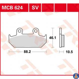 MCB624 Bremsbelag Cagiva 600 Canyon 900 Elefant Honda 600 XL 650 NX 650 XRV Africa Twin 1500 Goldwing